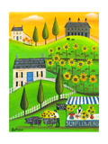 Sunflower Inspiration Farm Cheryl Bartley Giclee Print by Cheryl Bartley