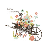 Wheelbarrow Giclee Print by Erin Clark