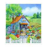 Garden Shed Giclee Print by Geraldine Aikman