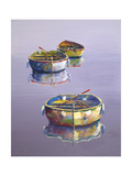 3 Boats Purple Giclee Print by Edward Park