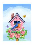 Bluebird Valentine Giclee Print by Geraldine Aikman