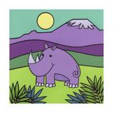 Rhinoceros Giclee Print by Denny Driver