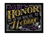 It Is Not the Honor Giclee Print by CJ Hughes