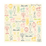 Yummy Veggies Giclee Print by Elizabeth Caldwell