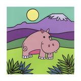 Hippopotamus Giclee Print by Denny Driver