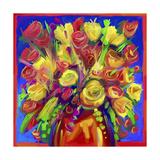 Pop Flowers 215 Giclee Print by Howie Green
