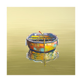 1 Boat Yellow Giclee Print by Edward Park