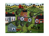 Amish Folk Art Quilts Giclee Print by Cheryl Bartley