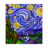 Starry Night 1 Giclee Print by Howie Green