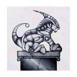 Lion Gargoyle XVI Giclee Print by Fernando Palma