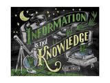 Information Is Not Knowledge Giclee Print by CJ Hughes