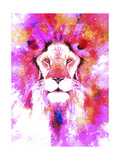 Lion Mix 2-XLI Giclee Print by Fernando Palma
