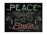Peace Begins with a Smile Giclee Print by CJ Hughes