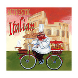 Bike Chef Colosseum Olive Giclee Print by Gregg DeGroat