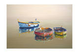 3 Boats Yellow Giclee Print by Edward Park