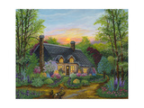 Sunset Cottage Giclee Print by Bonnie B. Cook