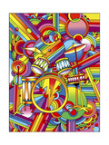 Pop Art Drums Giclee Print by Howie Green