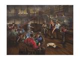 Old West Saloon Giclée-tryk af Geno Peoples