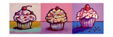3 Cupcakes Giclee Print by Howie Green