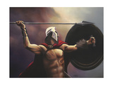 Spartan Warrior Giclee Print by Geno Peoples