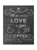 Love Coffee Giclée-tryk af Erin Clark