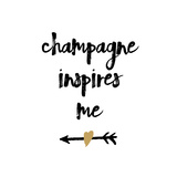 Champagne Giclée-tryk af Erin Clark