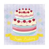 BDay Cake Giclee Print by Erin Clark