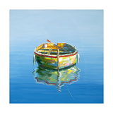 1 Boat Blue Giclee Print by Edward Park