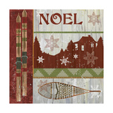 Lodge Greetings Noel Giclee Print by Fiona Stokes-Gilbert