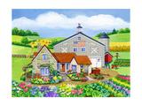 Oakley Farm Giclee Print by Geraldine Aikman