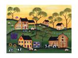 American Sunshine Country Farm Reproduction procédé giclée par Cheryl Bartley
