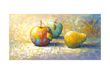 3 Apple Giclee Print by Edward Park