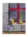 Gold Finches Giclee Print by Charlsie Kelly