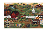 Amish Quilt Village Giclee Print by Cheryl Bartley