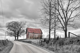 Springs Barn and Road BW Photographic Print by Bob Rouse