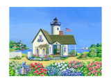 Lighthouse Cottage Giclee Print by Geraldine Aikman