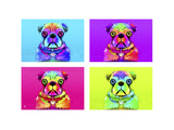 Pug Psychodelic Poster XXXII Giclee Print by Fernando Palma