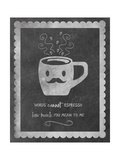 Face Coffee Giclee Print by Erin Clark