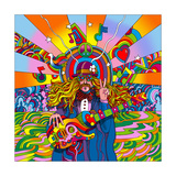 Hippie Musician Giclee Print by Howie Green