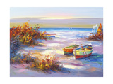 Boats on the Beach Giclee Print by Edward Park
