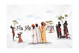 Tribal Wedding Giclee Print by Judy Mastrangelo