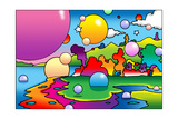 Bubbles Landscape Giclee Print by Howie Green