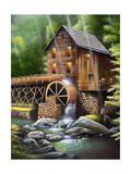 Gristmill Giclee Print by Geno Peoples