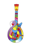 Guitar 712 Giclee Print by Howie Green