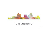 Greensboro North Carolina Skyline Giclee Print by Marlene Watson