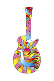 Pop Art Guitar Dove Giclee Print by Howie Green