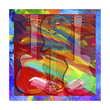 Pop Art Guitar Swirls Giclee Print by Howie Green