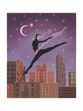 Art Deco Leap Giclee Print by Judy Mastrangelo