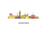 Lansing Michigan Skyline Giclee Print by Marlene Watson