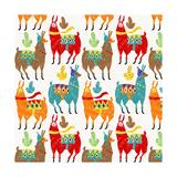 Llamas Colors Giclee Print by Gaia Marfurt